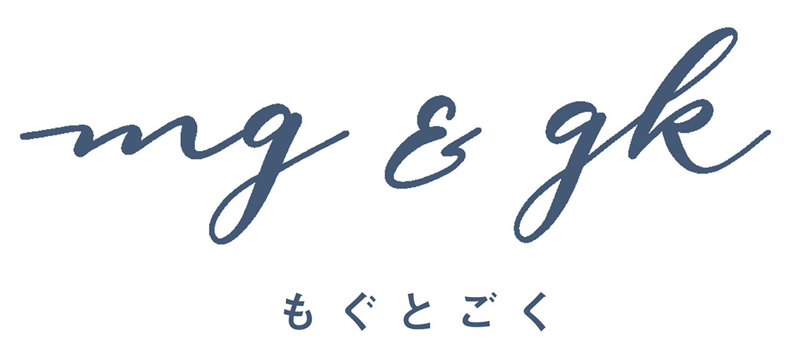 mg&gk(もぐとごく)ロゴ
