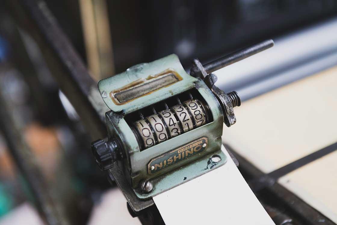 りてん堂の活版印刷機