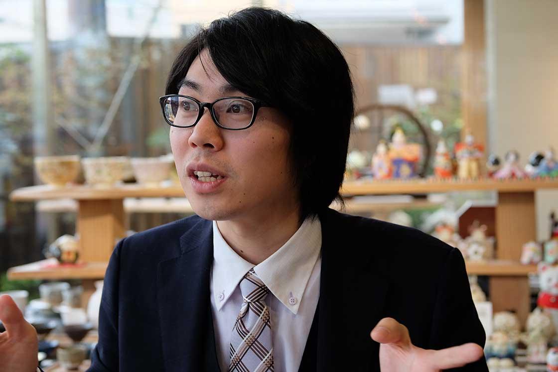 京都陶磁器会館の林大地さん