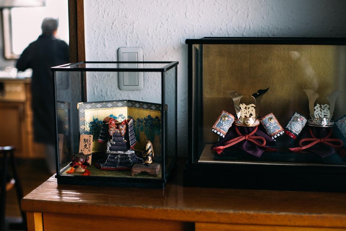 加藤さんが製作した兜たち