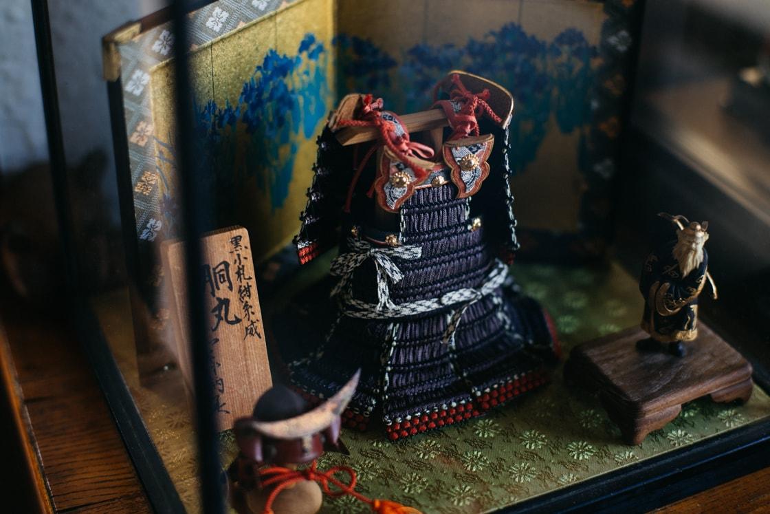 精巧に作られている江戸甲冑の胴丸