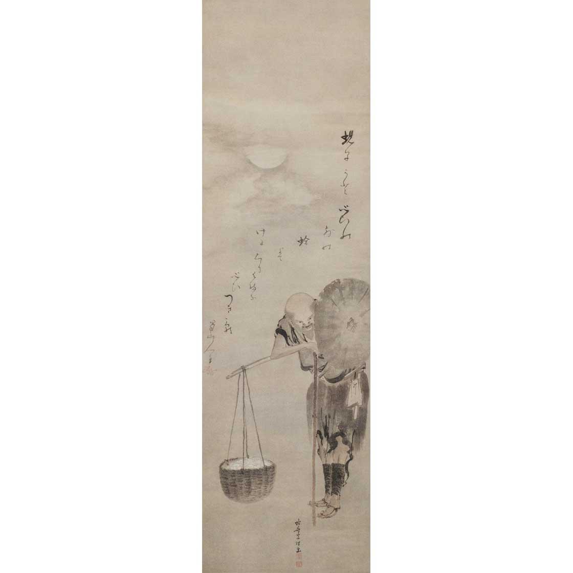 葛飾北斎「蛤売り図」(前期)