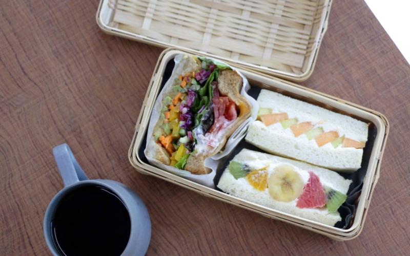 創作竹芸とみながのサンドイッチかご