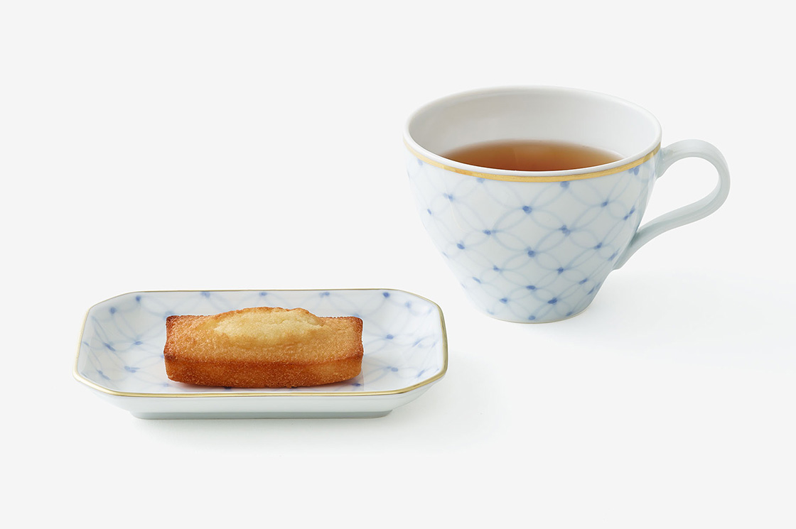 「mg&gk」の第一弾、フィナンシェと紅茶の器