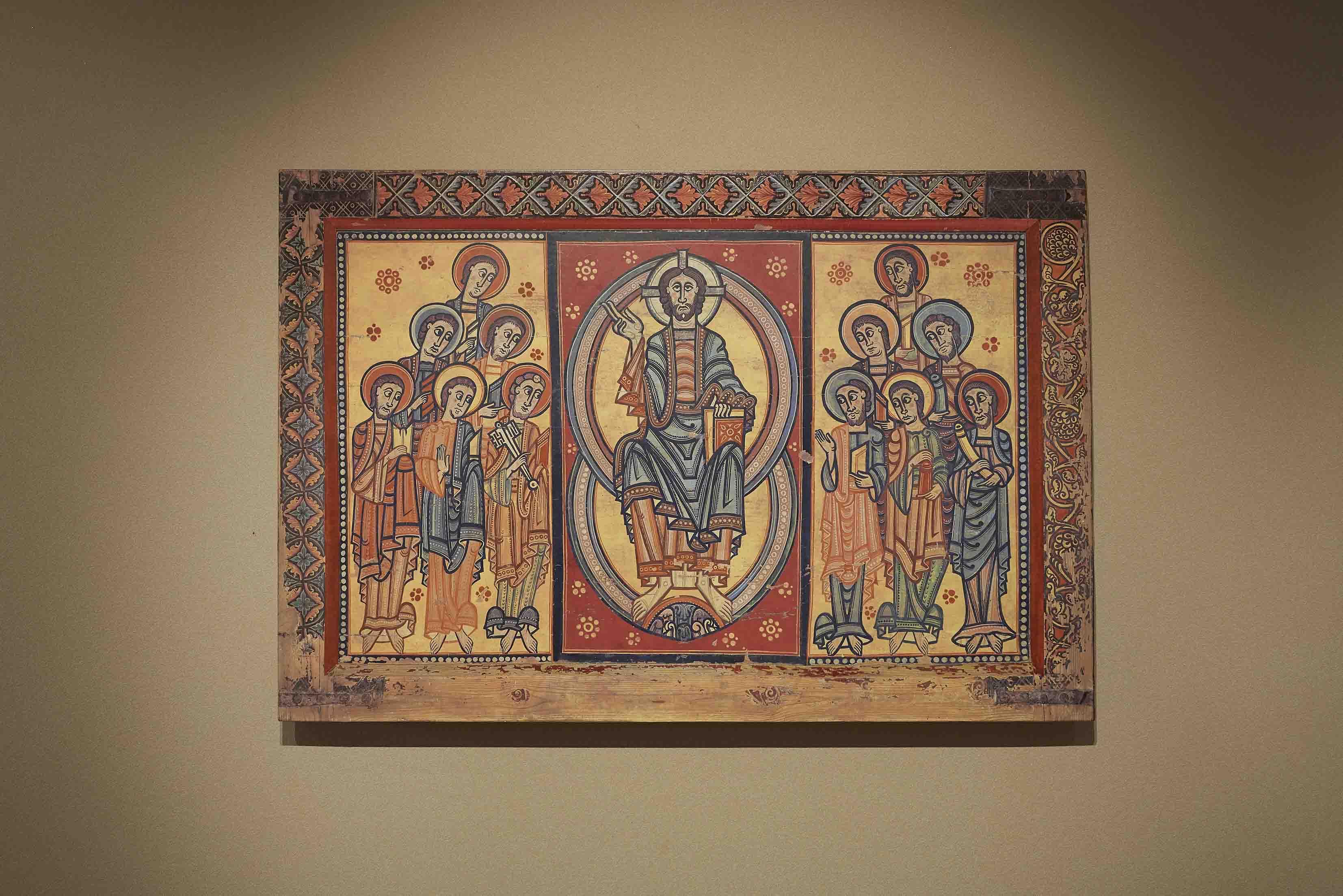 「キリストと十二使徒の祭壇前飾り」 カタルーニャ美術館 スペイン