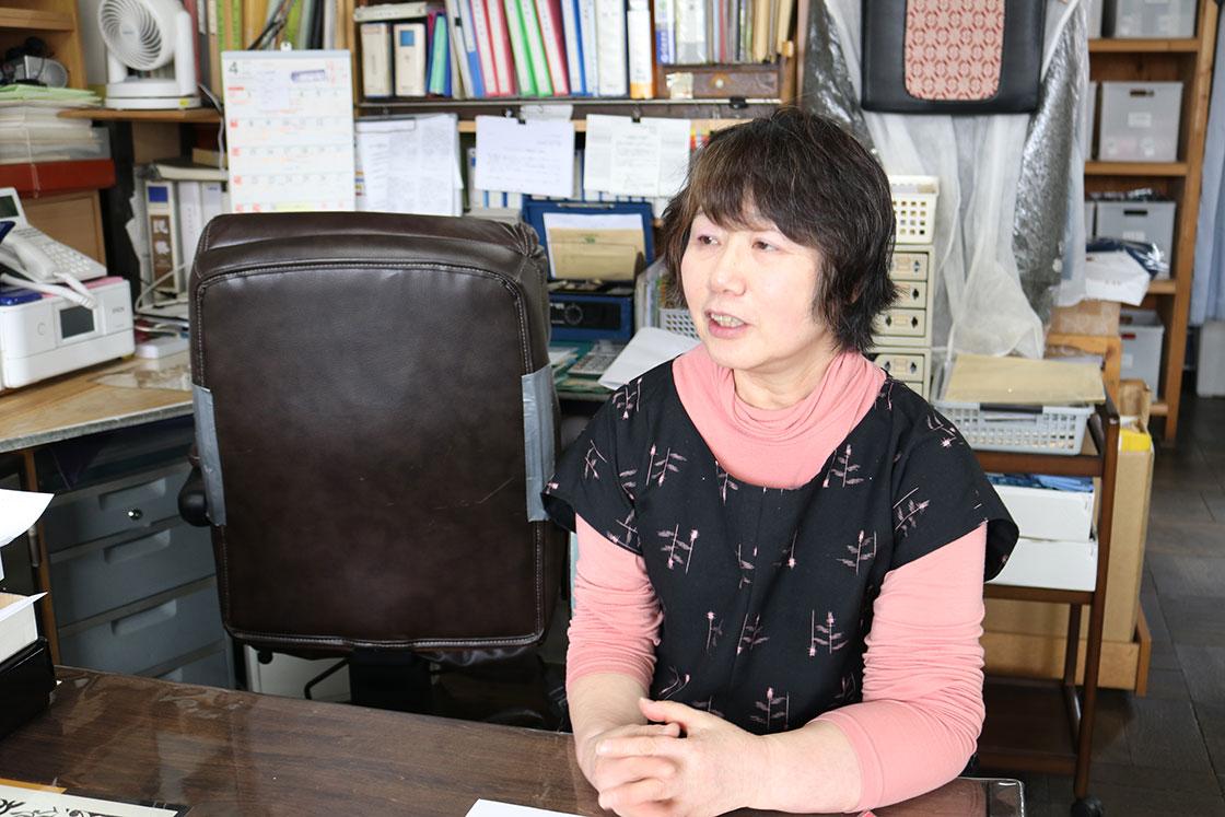 弘前こぎん研究所の三浦佐知子さん