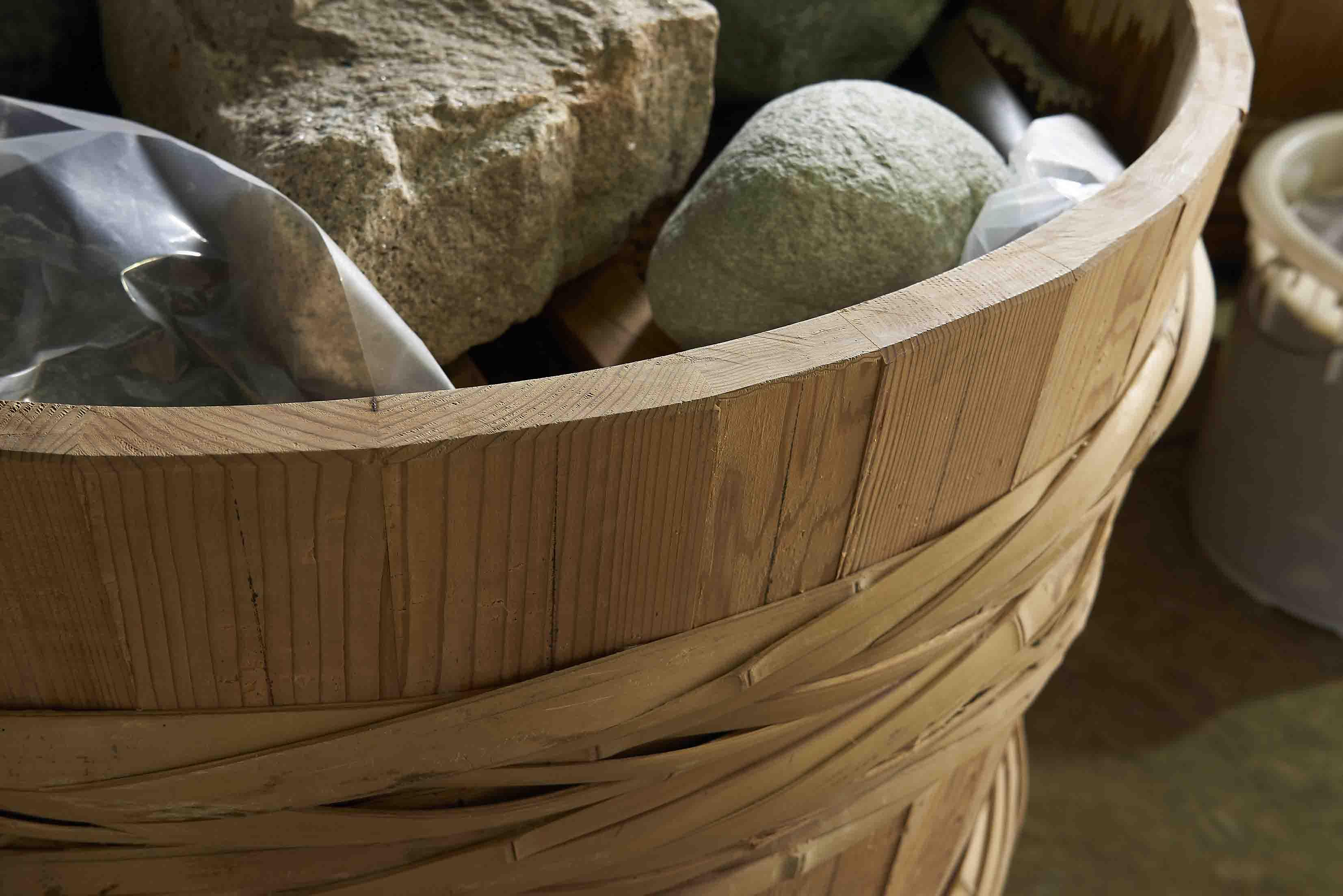 原田さんが初めて作った味噌樽