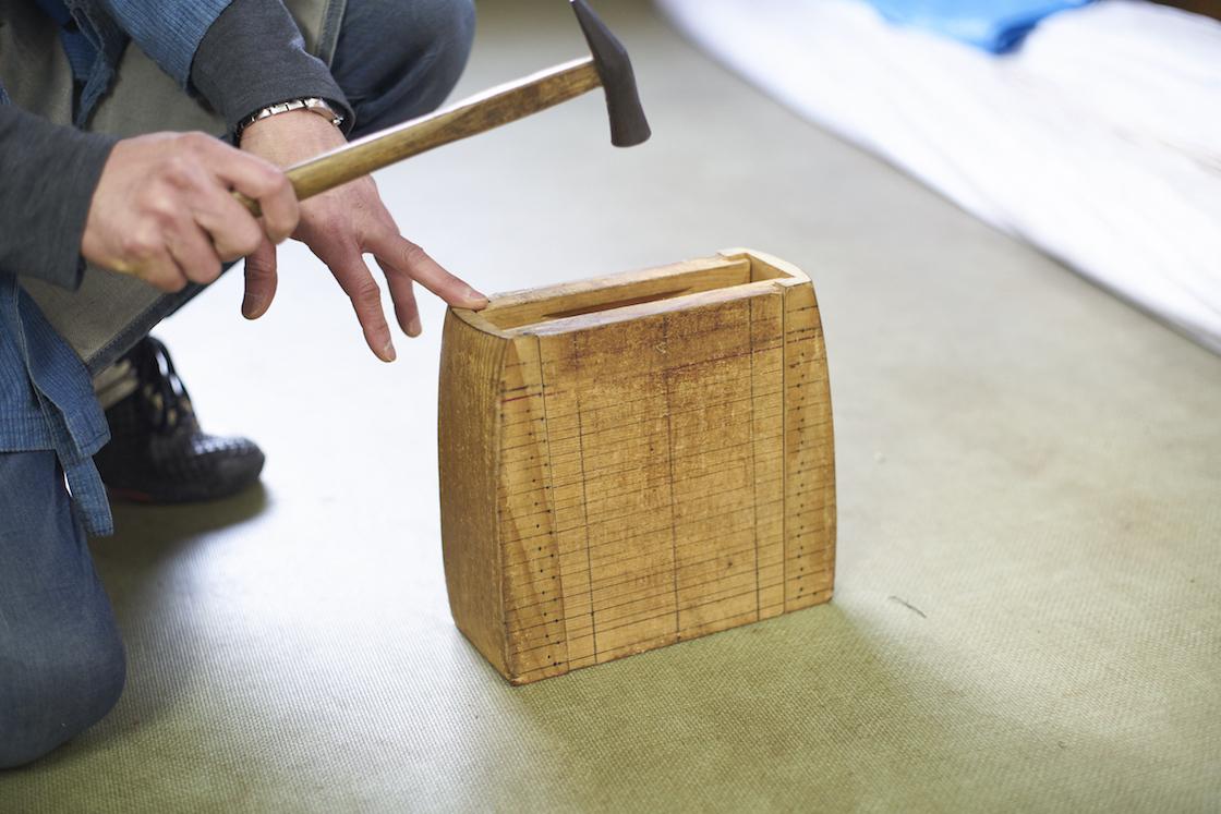 あけびかごの木型