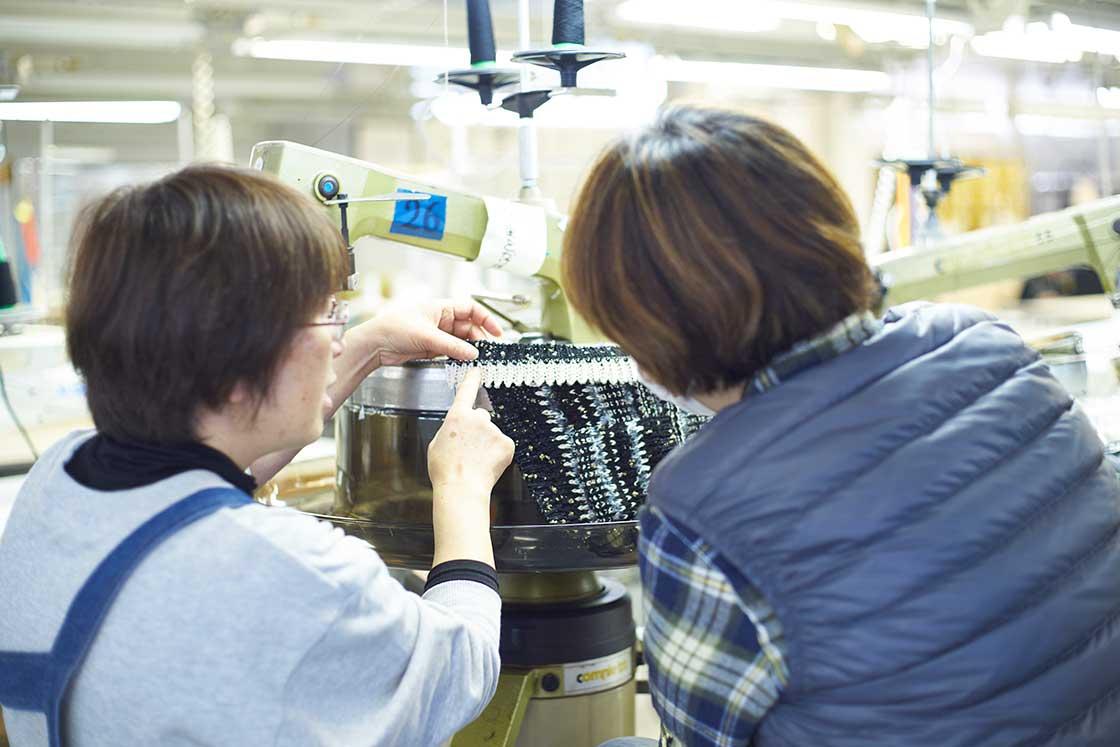 米富繊維の製造現場