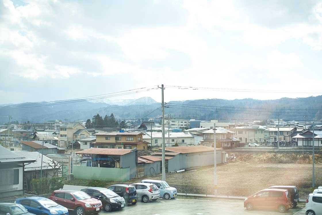 米富繊維の社屋からの風景