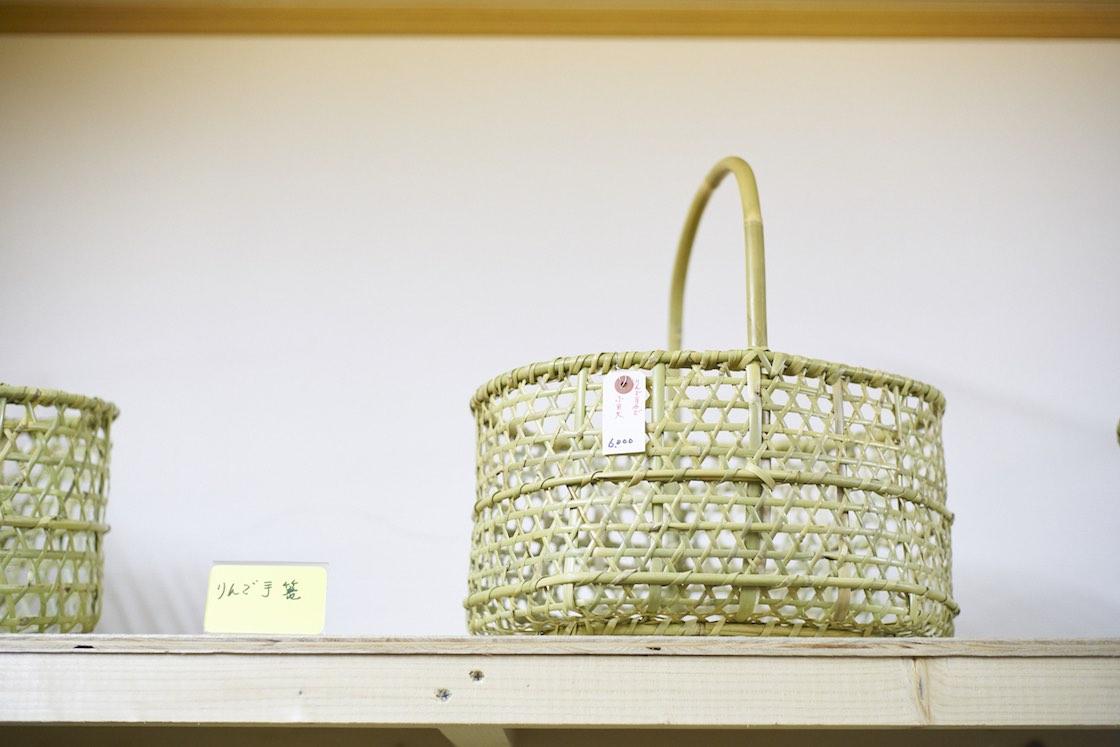 りんごかご_三上幸男竹製品販売センター