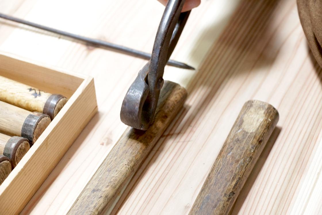 仏師河田さんの道具