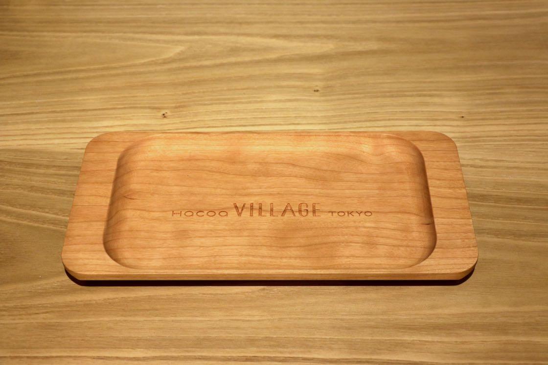 レジのトレイも木製です!