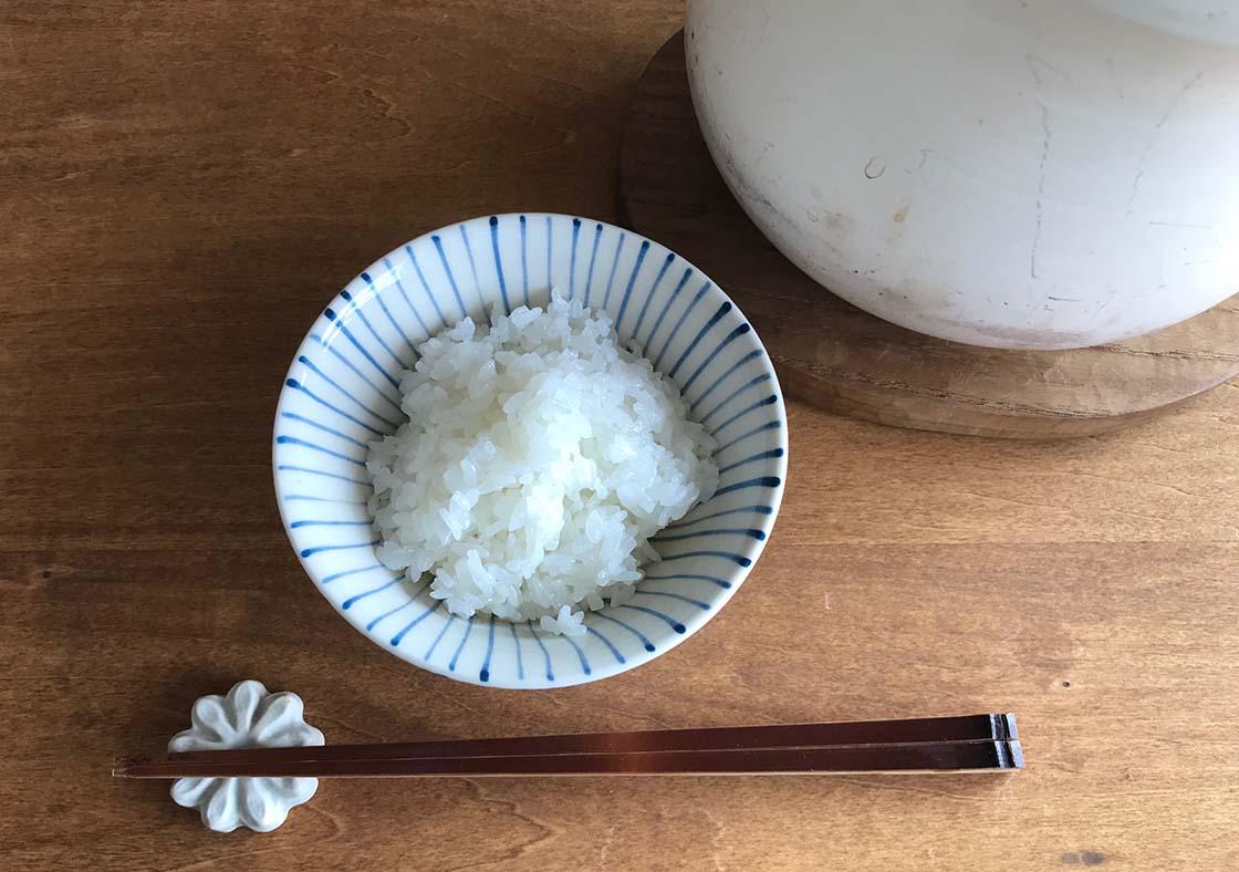 「大谷製陶所」大谷哲也さん作のライスクッカーで炊いたご飯
