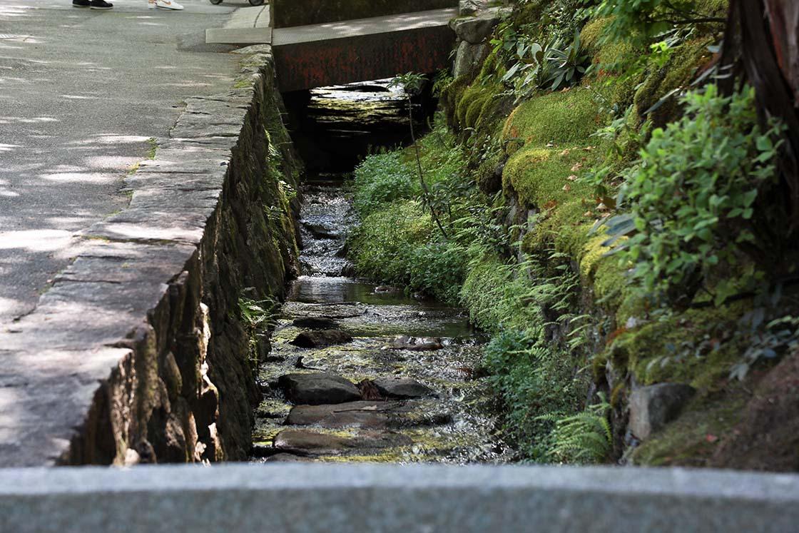 南禅寺の敷地内を流れていた琵琶湖疏水