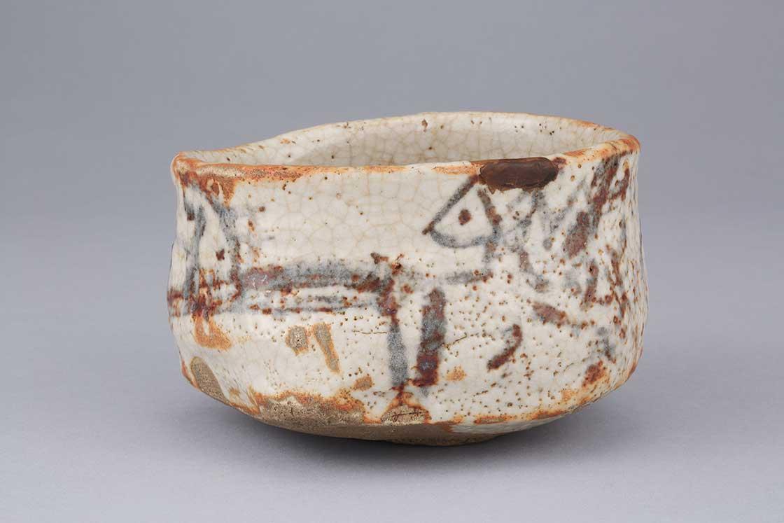 志野茶碗 銘 朝日影 桃山時代 17世紀 公益財団法人香雪美術館