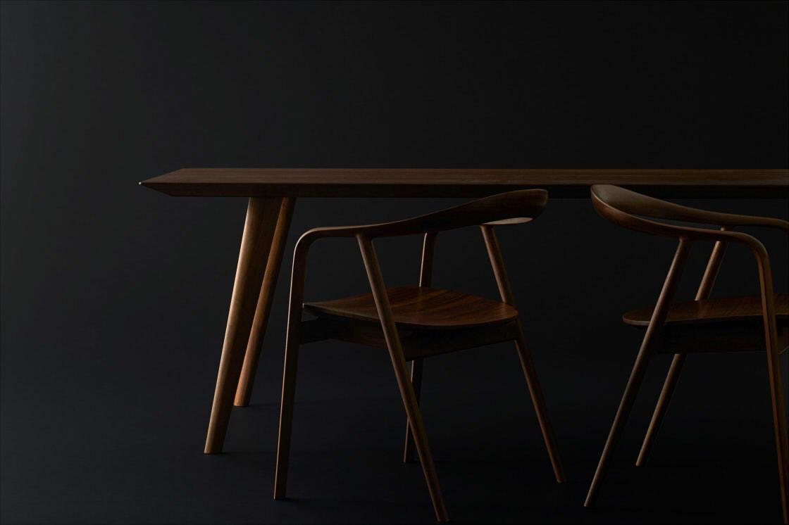 飛騨産業100周年記念製品 クマヒダ チェアとテーブル