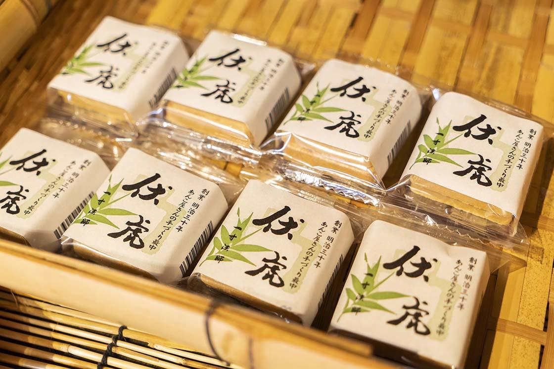 きたかわ商店直営の和菓子店「一寸法師」で販売されている最中
