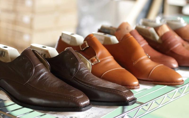 「コトワ靴製作所」で製作された八幡靴