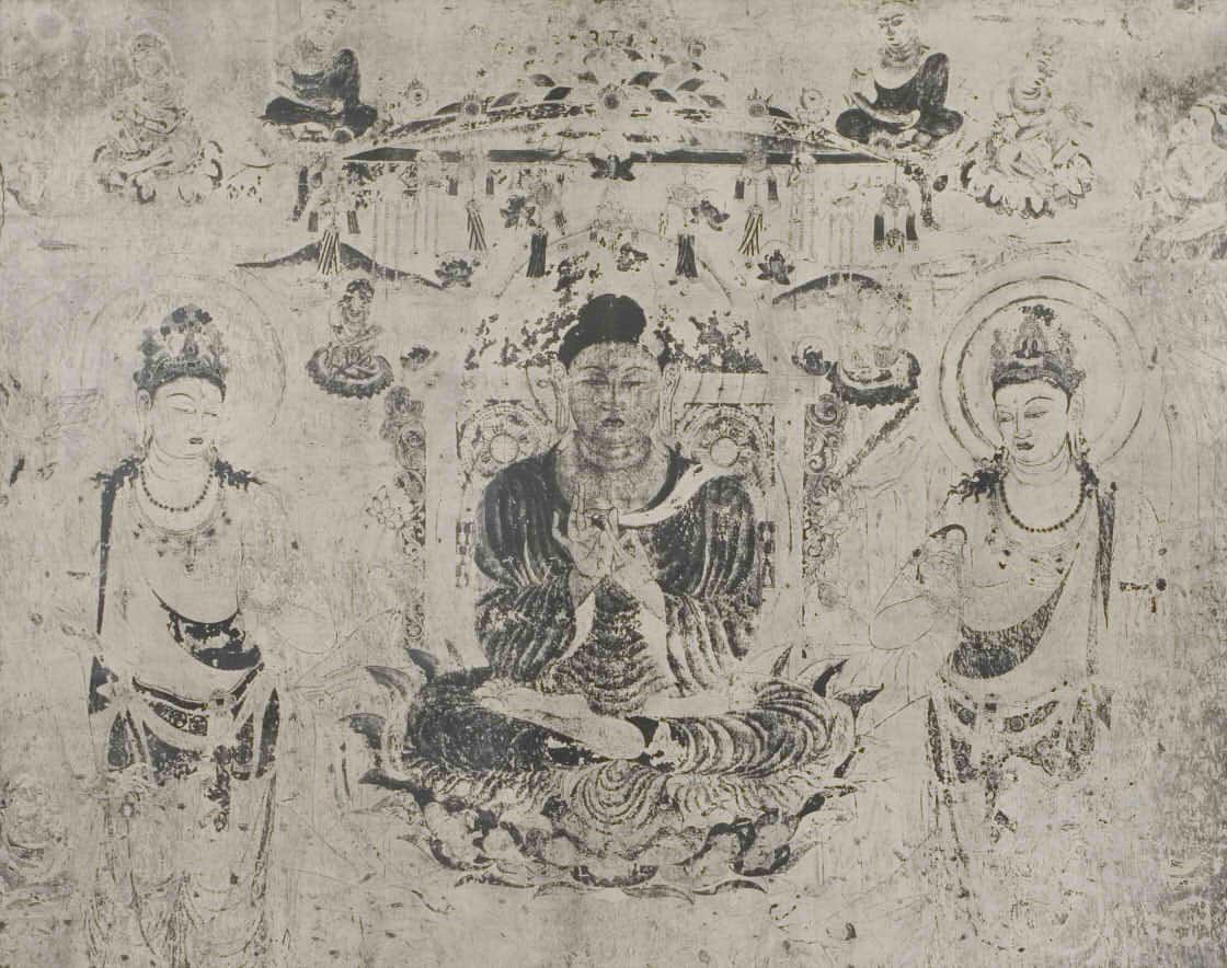 法隆寺金堂壁画第六号壁コロタイプ複製(1937年) 便利堂蔵