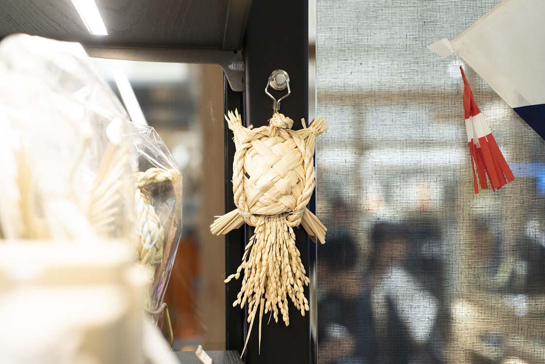 島根県雲南市吉田町の稲わら細工「鶴亀のしめ飾り」