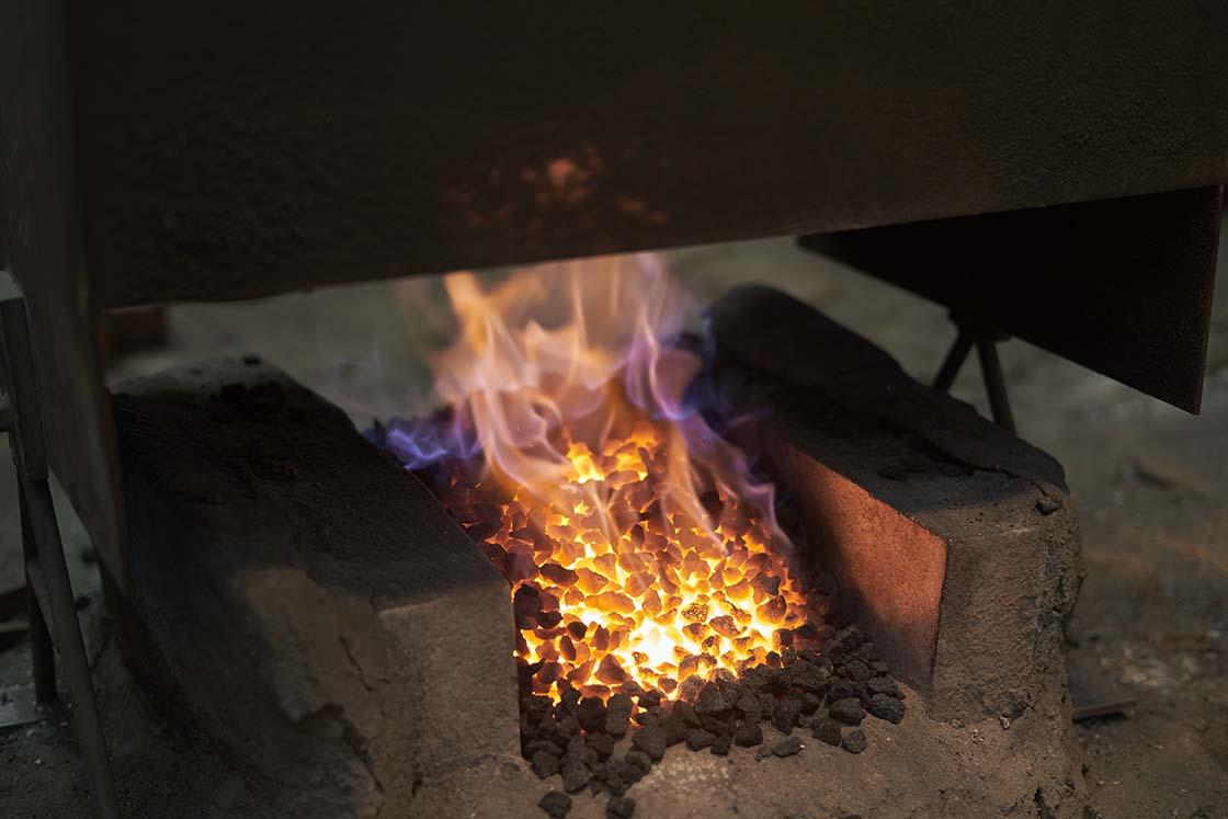 火がついた炉