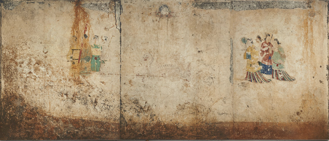 高松塚古墳壁画原寸大コロタイプ複元 便利堂蔵