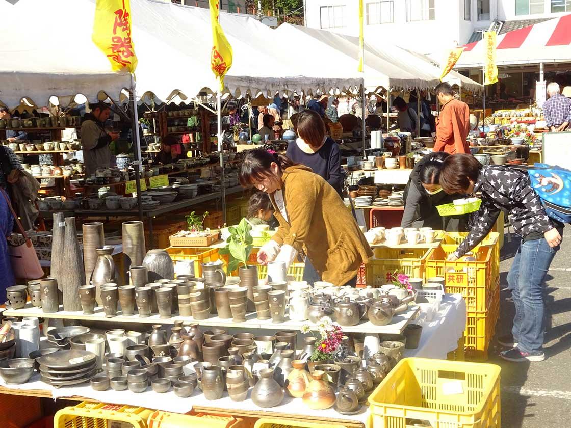益子秋の陶器市
