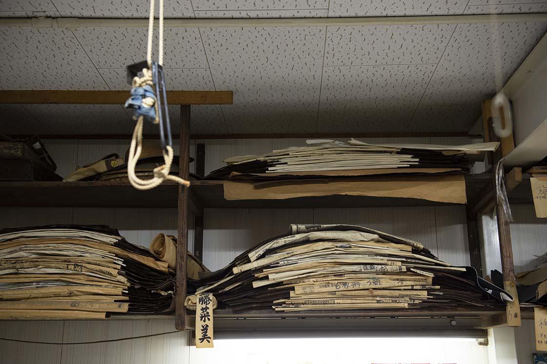 代々受け継がれてきた10万枚以上の型紙