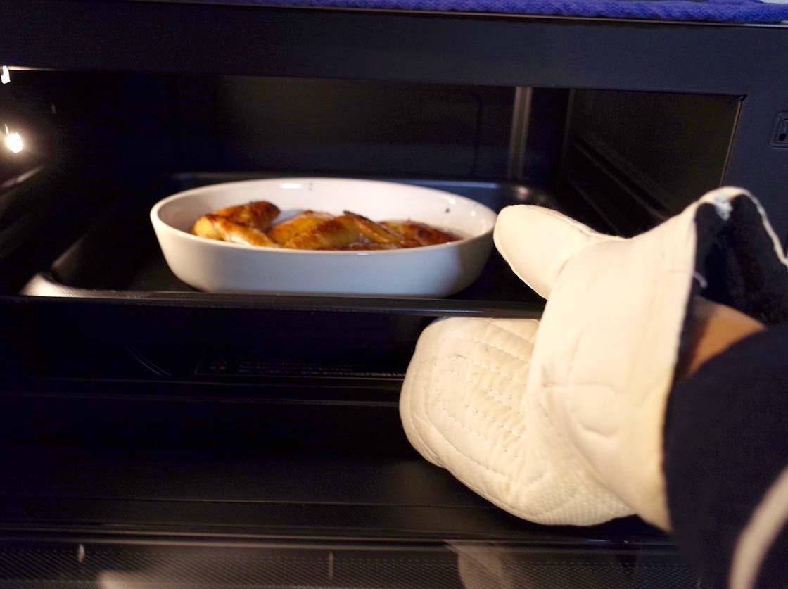 オーブン料理で使用する例