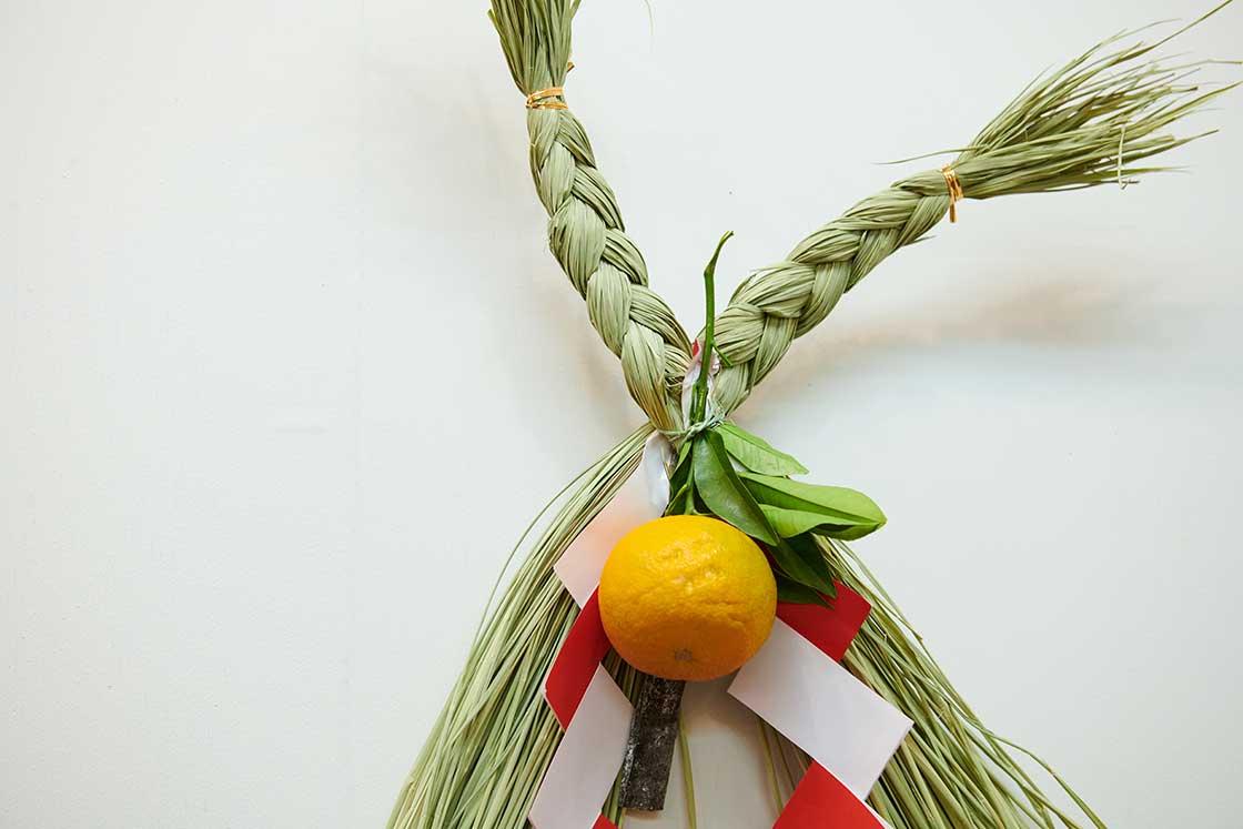 静岡県御殿場「ハサミ」型のしめ飾り