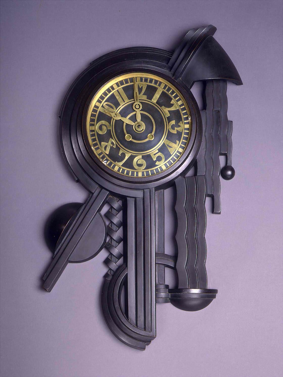 内藤春治《壁面への時計》1927年 東京国⽴近代美術館蔵