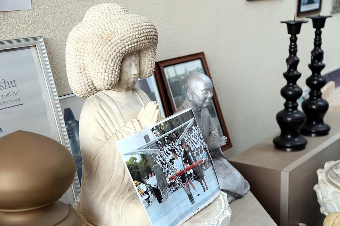 平和記念式典の黙祷時の写真