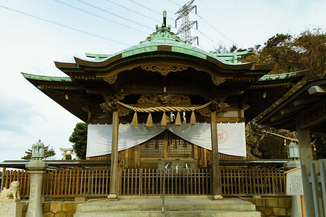 北九州の和布刈神社の神殿