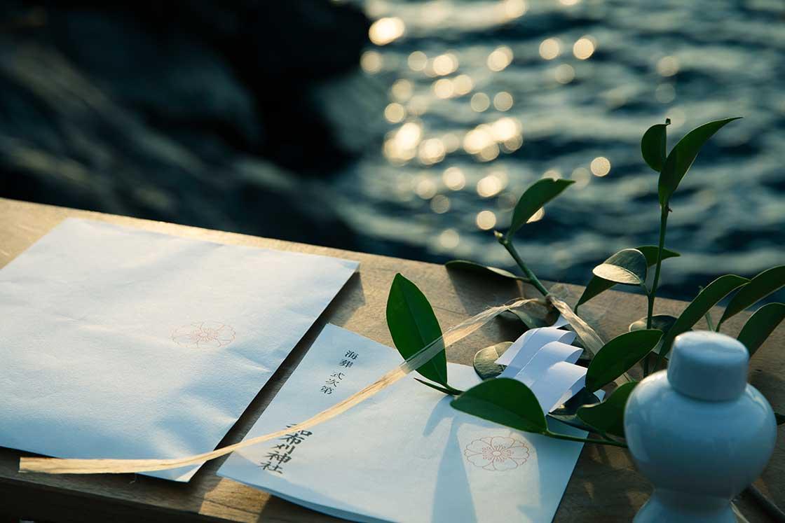 和布刈神社の海葬