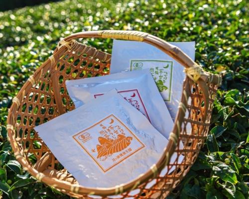 月ヶ瀬健康茶園株式会社の有機ほうじ煎茶、有機紅茶、有機煎茶