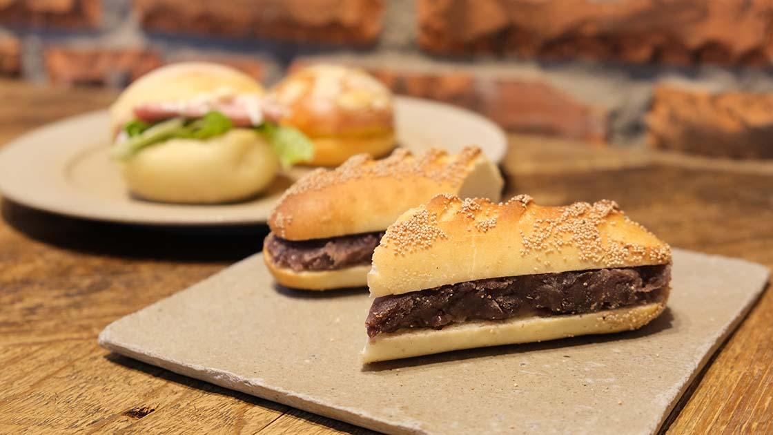 「ル・シュクレ・クール」のあんバターサンドとサンドイッチ