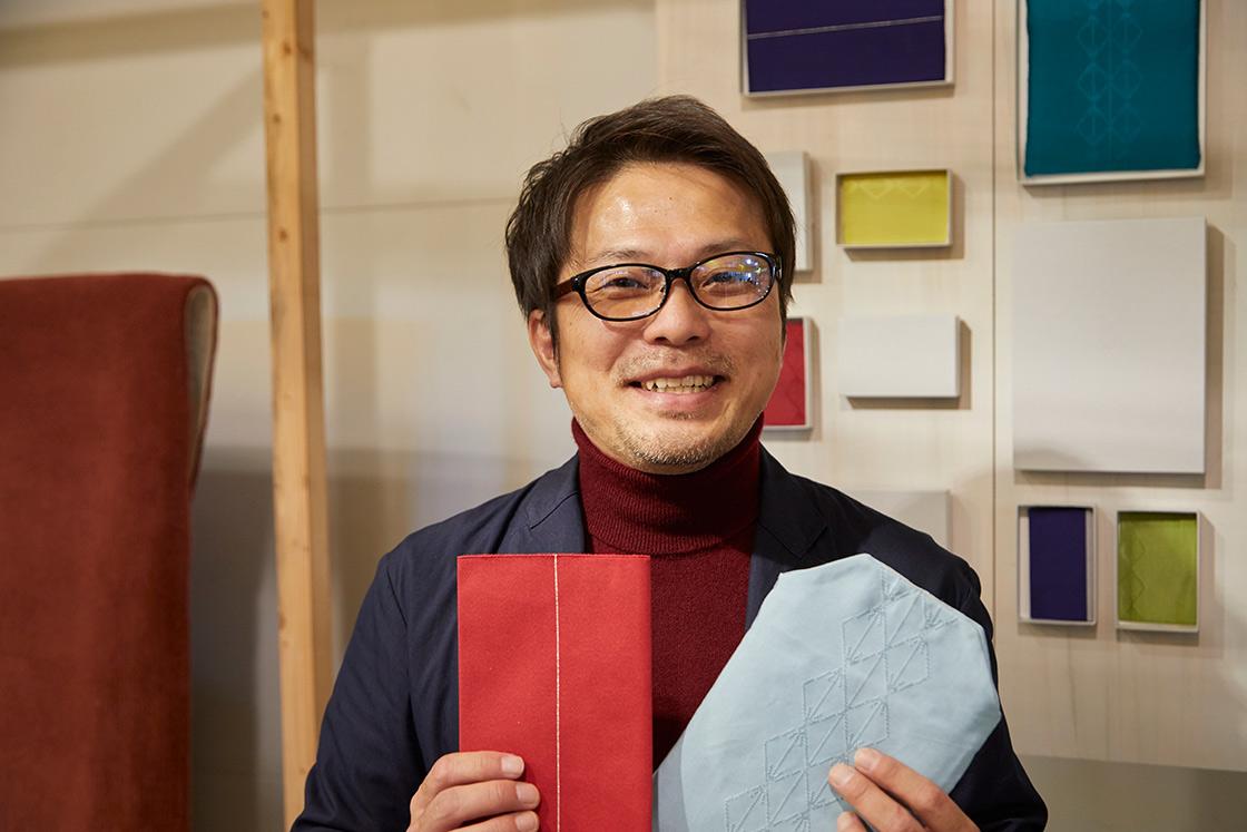 sufutoを手がける清原織物の清原聖司さん