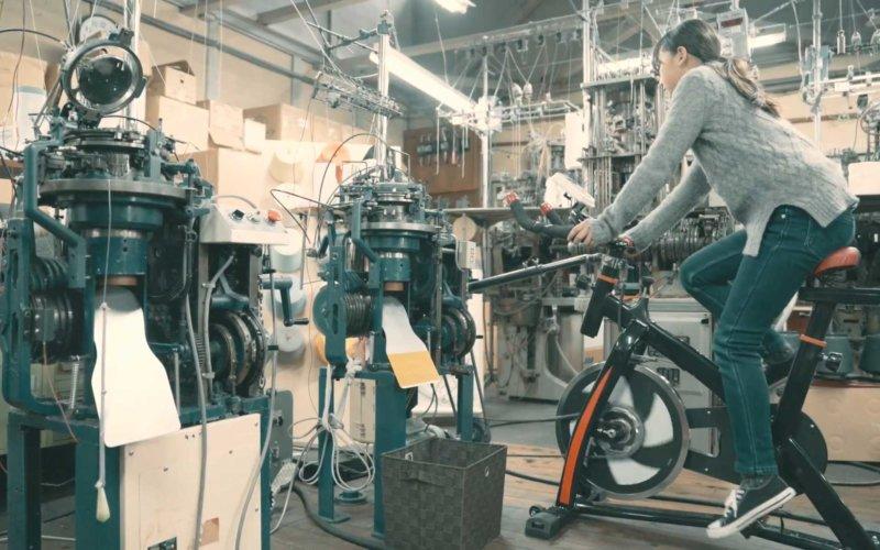 自転車で靴下を編むブランドチャリックス 奈良