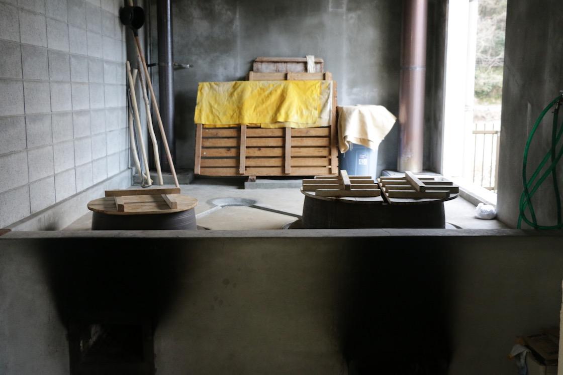美濃和紙 煮出し用釜