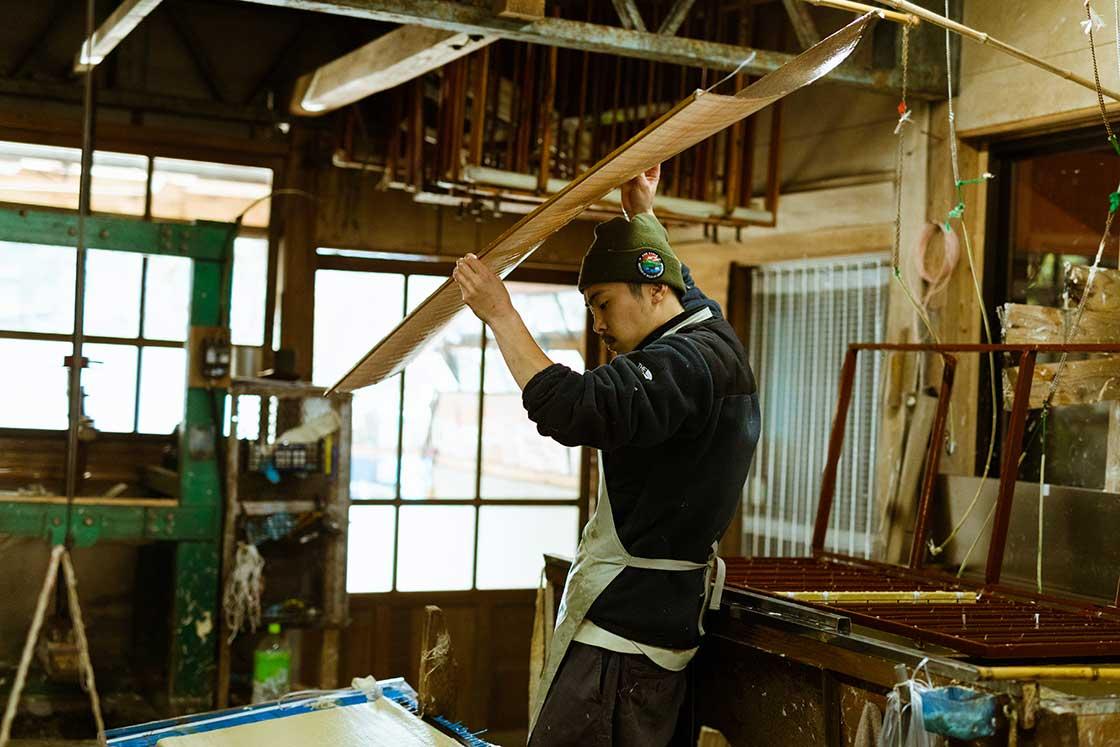 小副川さんの作業風景