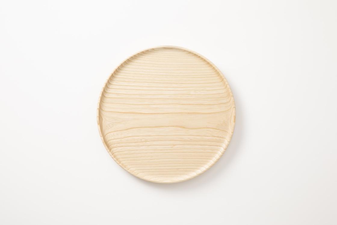 丸いトレー(山中漆器工芸)
