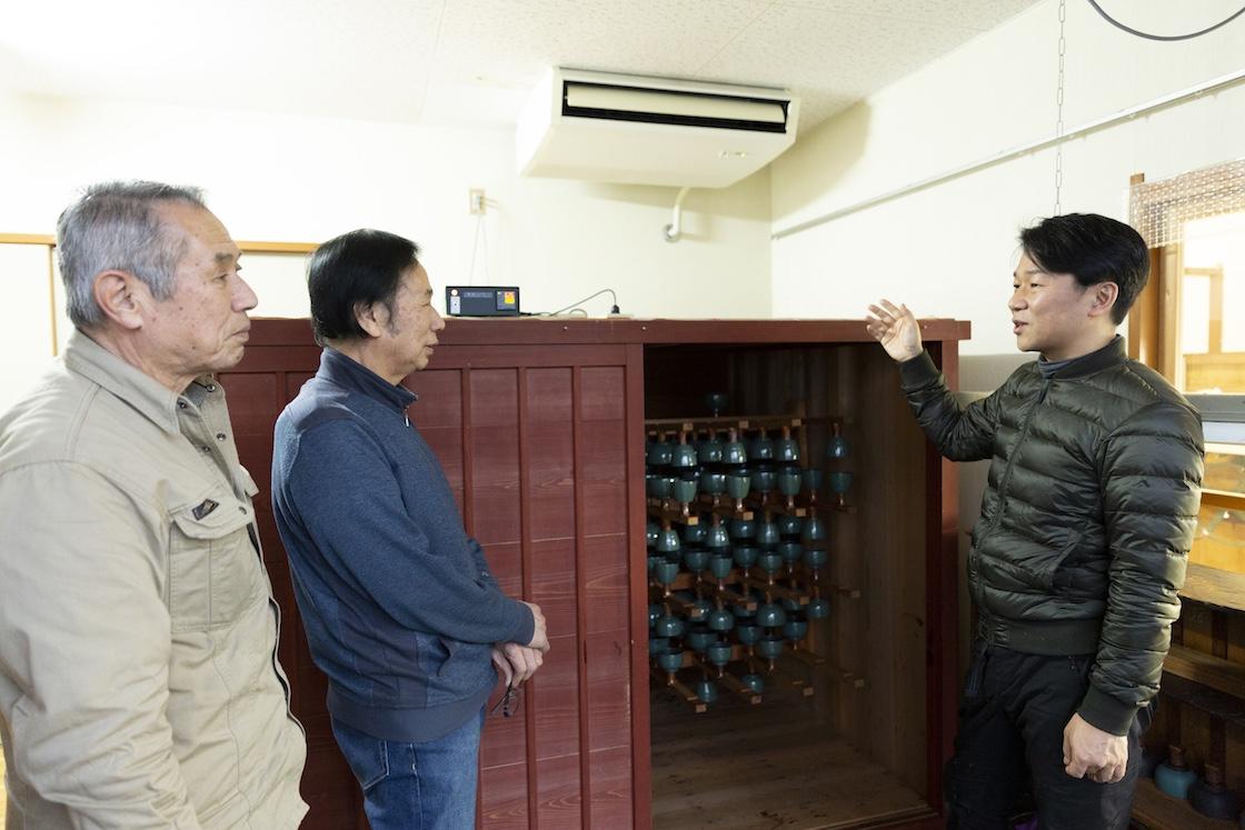 「内田さんや河和田は若い職人さんは漆器業界の希望の星ですよ」と川嶋さん