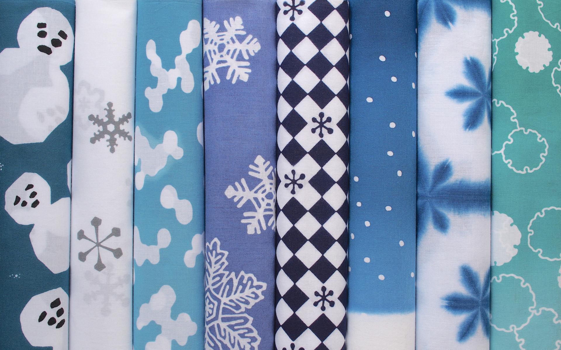 雪を愛でる、日本の雪柄手ぬぐい