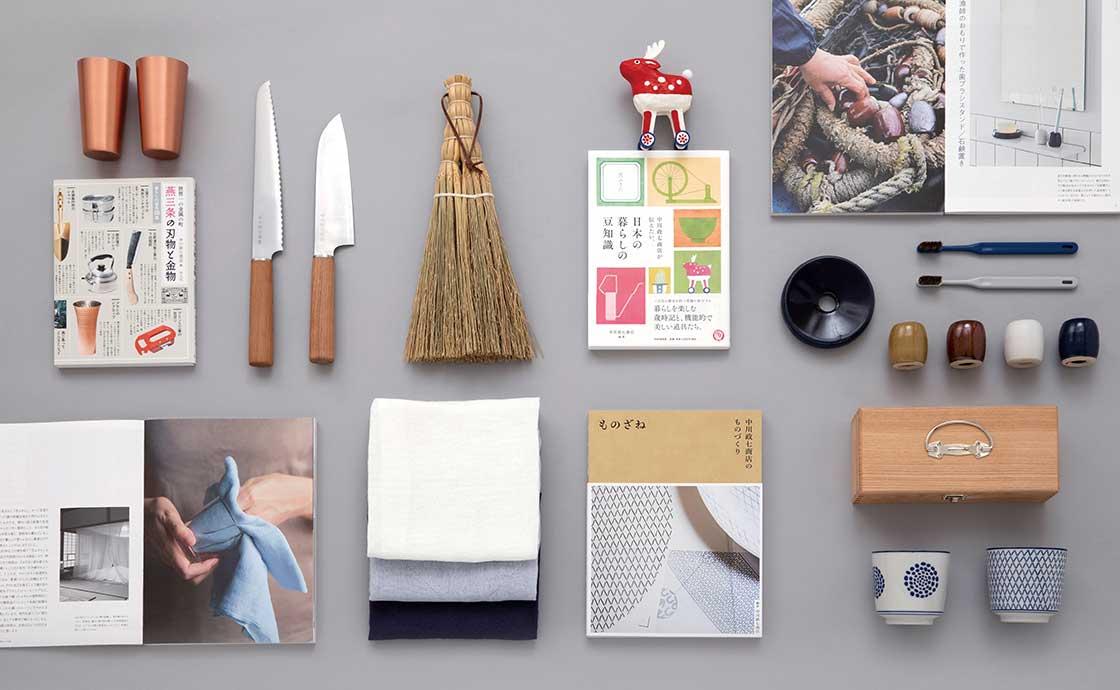中川政七商店の暮らしの道具と蔦屋書店の選書がお互いに連動する