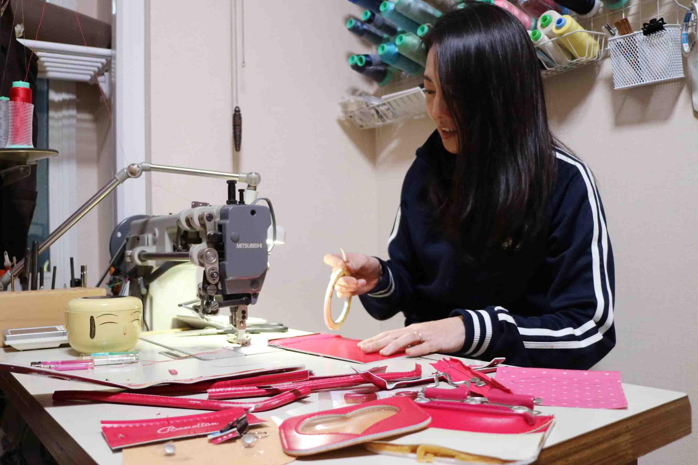 ミシンで縫い合わせる準備