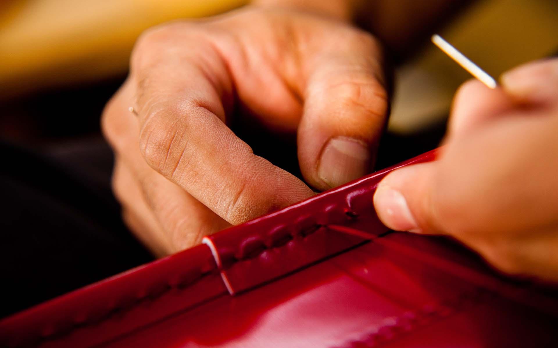 大峡製鞄のランドセル作り