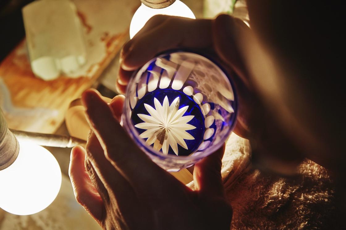 江戸切子の製作過程