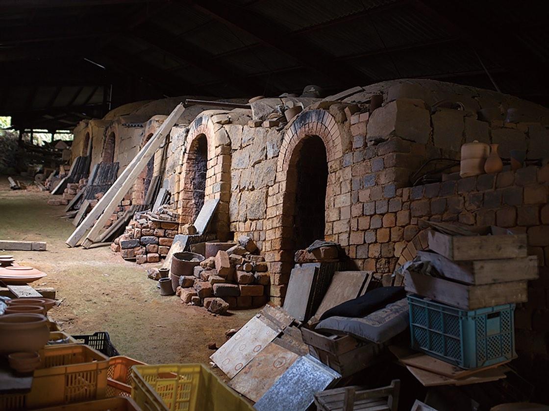 小石原にある昔ながらの登り窯