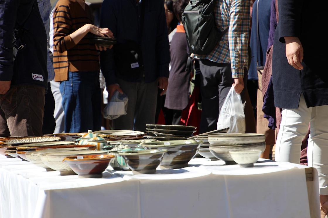 2018年の小鹿田焼民陶祭の様子